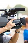 Close Up Of Cameraman.