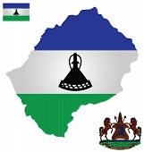 Kingdom of Lesotho Flag