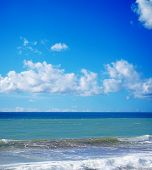 Rough Sea Under A Cloudy Sky