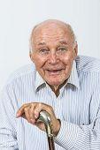 Happy Happy Elderly Man Enjoys Life