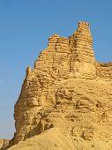 stock photo of riyadh  - Clay rocks surrounding Riyadh city in Saudi Arabia                                - JPG