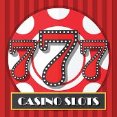 Lucky Seven Casino Slot Machine Background, Icon