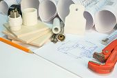 stock photo of putty  - Drawing rolls - JPG