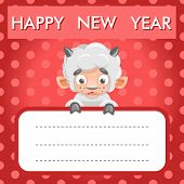 Sheep card new year