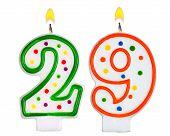 Birthday Candles Number Twenty Nine