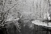 Winter River Snow