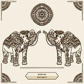 elephant mehendi