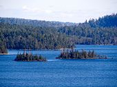 picture of caribou  - View of lake with islands in the Boundary Waters Canoe Area from Caribou Rock - JPG