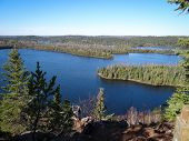 foto of caribou  - View of lake in the Boundary Waters Canoe Area from Caribou Rock - JPG