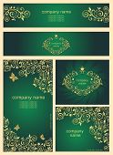 Ornate gold vintage templates for business cards