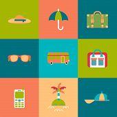 Travel Flat Icons Set