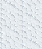 White perforated paper with cut out effect. Abstract 3d seamless background. Vector EPS10.