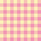 Pale pink and yellow checkered seamless background