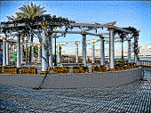 Estrutura de praia espanhola
