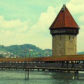 Chapel Bridge In Lucerne(Switzerland)