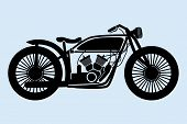 foto of homogeneous  - vector illustration of retro motorcycle isolated on a homogeneous background - JPG