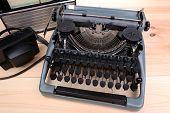 Antique Typewriter. Vintage Typewriter Machine