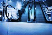 pic of escalator  - Pearson walking of the escalator - JPG