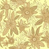 pic of gerbera daisy  - Floral seamless pattern - JPG