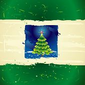 image of merry christmas  - beautiful christmas tree on the grunge background - JPG