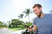 stock photo of driving  - Car and smartphone app concept  - JPG