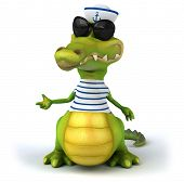 picture of crocodile  - Fun crocodile - JPG