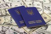foto of passport cover  - Ukrainian passport - JPG