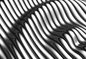 Silver Aluminium Wave Shape Stripe Background