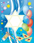 picture of purim  - Abstract background from the stars of David - JPG