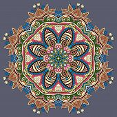 image of indian blue  - mandala - JPG