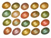 picture of priceless  - colorful easter eggs isolated on a white background - JPG