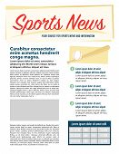 pic of newsletter  - Page layout newsletter for use with business or nonprofit - JPG