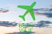 picture of bon voyage  - Airplane icon  - JPG