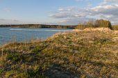 foto of bavaria  - the lake Klausensee next to Schwandorf in Bavaria in spring - JPG