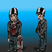 picture of skate board  - two characters - JPG