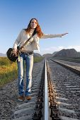 Railroad Hitch Hiking-1 poster
