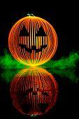 stock photo of jack-o-lantern  - Halloween Pumpkin or Jack - JPG