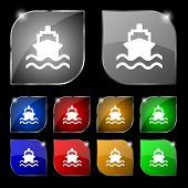 picture of brigantine  - ship icon sign - JPG