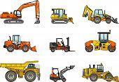foto of heavy equipment  - Silhouette illustration of heavy equipment and machinery - JPG