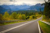 Постер, плакат: Road in mountains