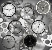 pic of pass-time  - Clocks mark the time that passes quickly - JPG