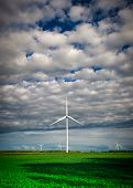 foto of wind-farm  - A white wind - JPG