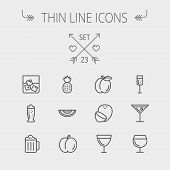 foto of alcoholic drinks  - Food and drink thin line icon set for web and mobile - JPG