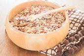 stock photo of whole-grain  - Multi whole grain of organic jasmine rice - JPG