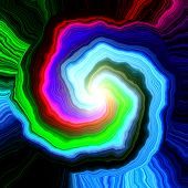 stock photo of lsd  - Crazy abstract melted colorful shapes as wallpaper - JPG