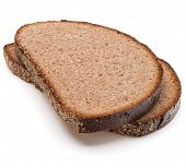 picture of fresh slice bread  - Slice of fresh rye bread isolated on white background cutout - JPG