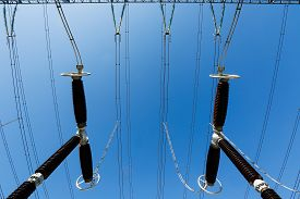 picture of electric station  - Specialist electrical surge arresters - JPG