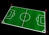 Voetbal veld 3D