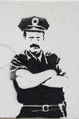 Polizei-Graffiti