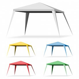 picture of canopy roof  - Canopy Tent on a white background - JPG